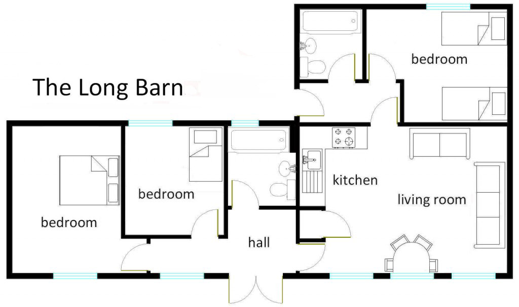 The Long Barn Floor Plan